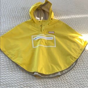 HUNTER for Kids Waterproof Packable Poncho Yellow